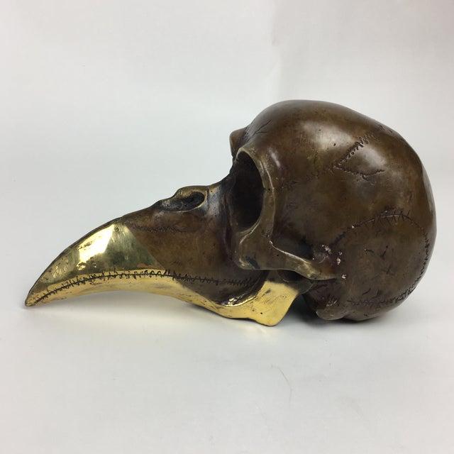 Modernist Bronze Skull Sculpture 1974 Stein For Sale - Image 4 of 9