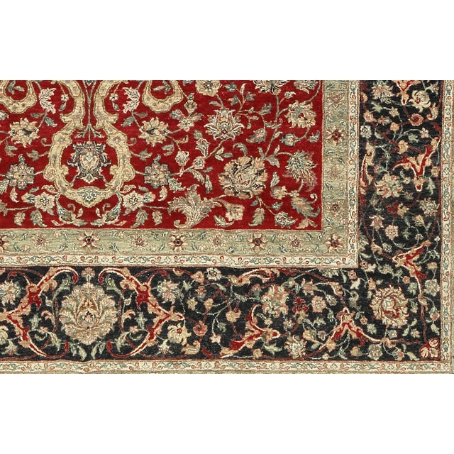 An introduction to master rug weaving from India. These designs are revivals of Agra patterns from the Persian Mughul...