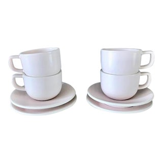 Massimo Vignelli Sasaki Colorstone Tea Cups/Saucers - Set of 4