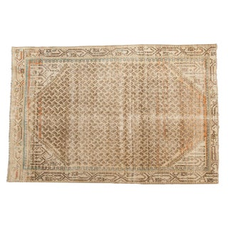"Vintage Distressed Mir Serbend Rug - 4'1"" X 6'1"" For Sale"