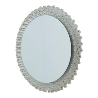 Round Backlit Mirror by Emil Stejnar for Rupert Nikoll, Austria, 1950s For Sale
