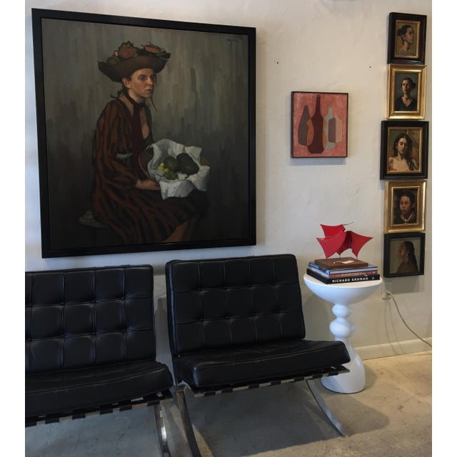 """Rubino Framed Oil Painting """"He Ska"""", Contemporary Portrait For Sale In West Palm - Image 6 of 7"""