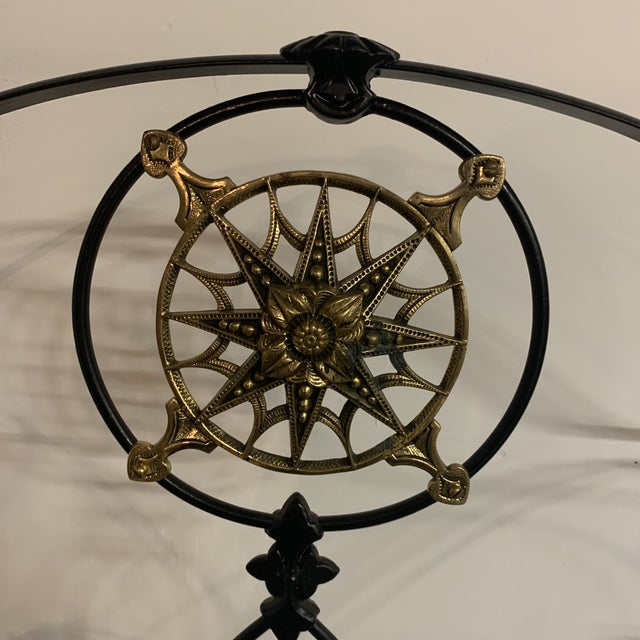 19th Century Victorian Brass and Iron King Bedframe For Sale - Image 9 of 13