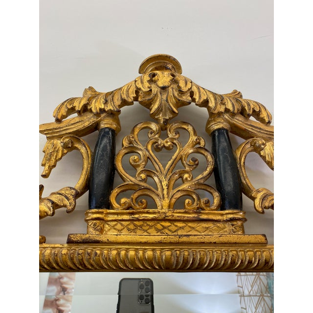 Asian Vintage Harrison and Gil Gilded Chinoiserie Mirror For Sale - Image 3 of 7