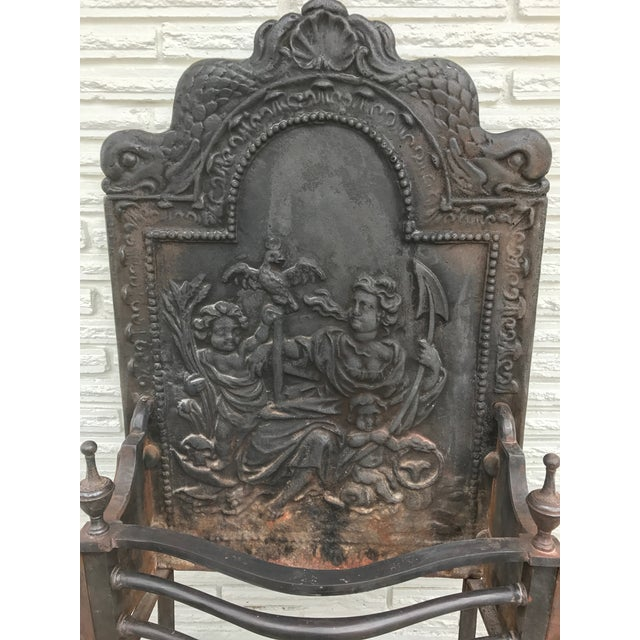 Cast Iron Cast Iron Coal Fireback For Sale - Image 7 of 7