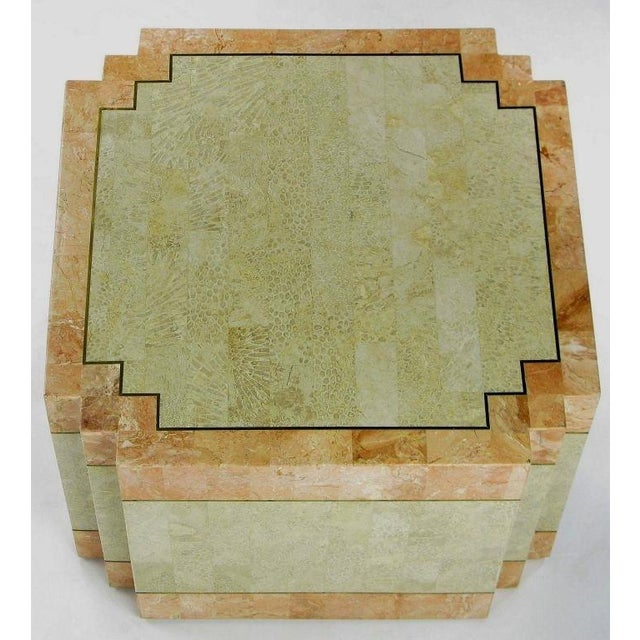 Art Deco Casa Bique Tessellated Fossil Stone & Marble Coffee Table For Sale - Image 3 of 6