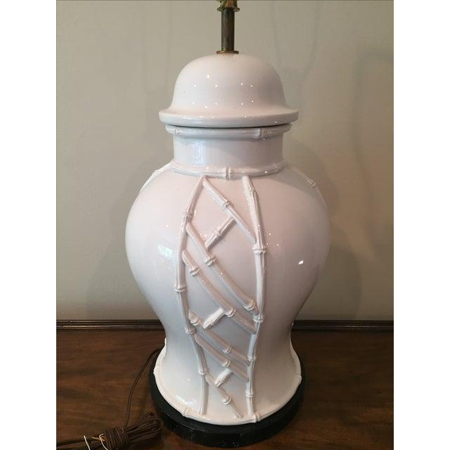White Bamboo Lamp - Image 4 of 7