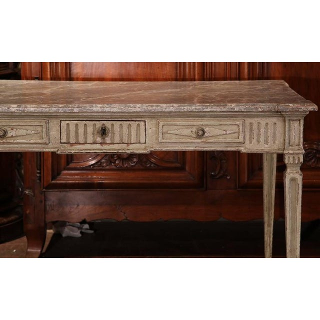 French 19th Century French Louis XVI Writing Desk For Sale - Image 3 of 9