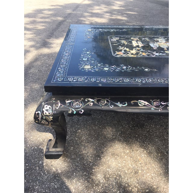 Chinoiserie Lacquered Coffee Table For Sale In Los Angeles - Image 6 of 7