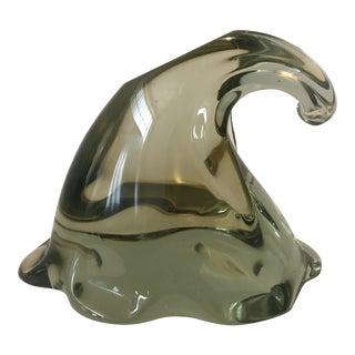 1980s Pino Signoretto Signed Murano Glass Sculpture For Sale