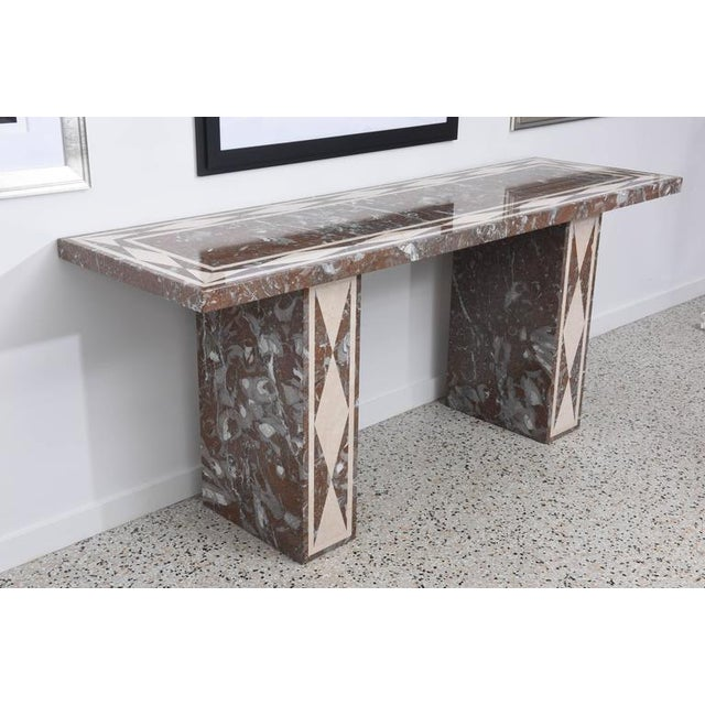 Large-Scale Italian, Neoclassical-Style Marble Console/Buffet Table - Image 5 of 9