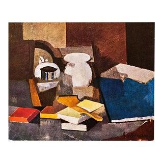 """1947 Roger De La Fresnaye, """"Nature Morte"""" Lithograph For Sale"""