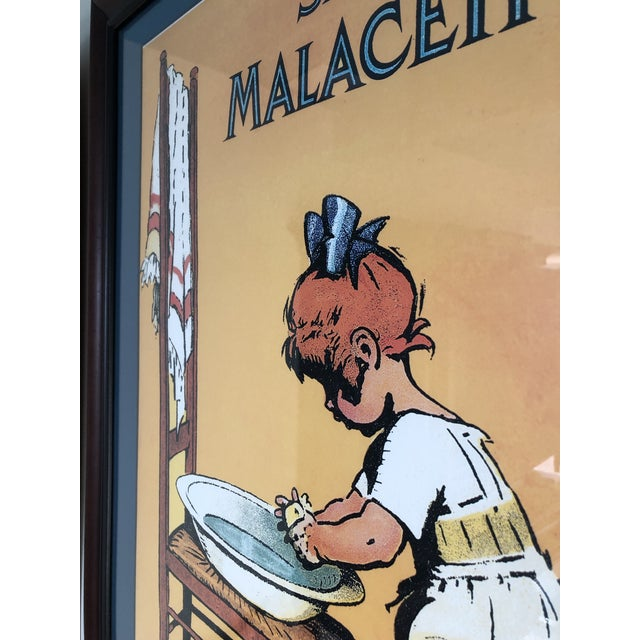Vintage French Soap Advertisement Custom Framed and Matted Print With Sturdy Hanging Wire For Sale In Los Angeles - Image 6 of 11