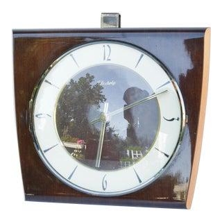 1950s Wooden Wall Clock Kientzle, Germany For Sale
