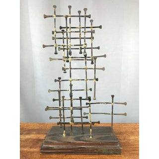 Midcentury Large Brutalist Abstract Nail Art Sculpture Preview