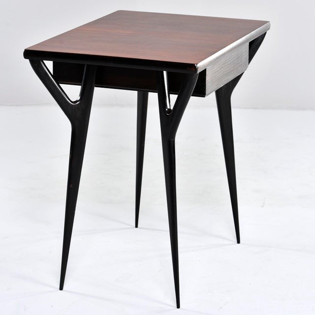 Brown Small Mid Century Italian Desk For Sale - Image 8 of 12