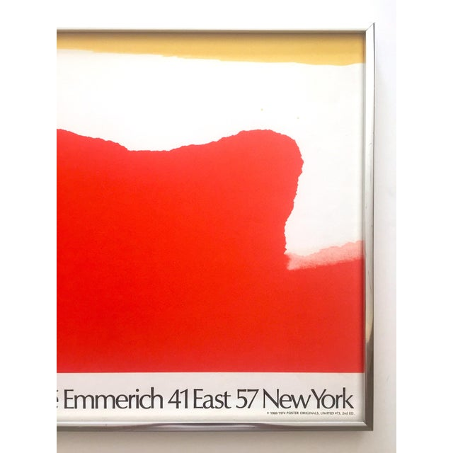 Chrome Helen Frankenthaler Rare 1974 Mid Century Modern Abstract Expressionist Lithograph Print Framed Exhibition Poster For Sale - Image 7 of 13