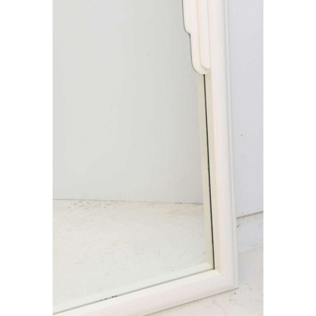 Art Deco Vintage Dorothy Draper White Lacquer Mirror Hollywood Regency Art Deco For Sale - Image 3 of 12