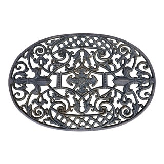 Late 20th Century Vintage Cast Iron Doormat For Sale
