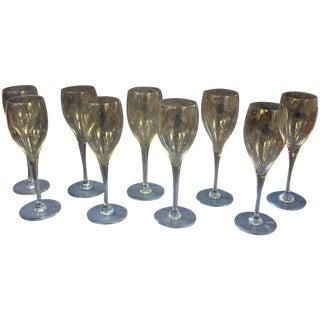 Baccarat White Wine Glasses - Set of 9