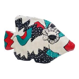 1990's Vintage Marcis Sterling Paper Mache Fish Sculpture For Sale