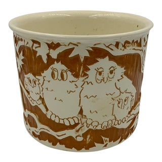 1960s Haeger Planter With Owl Family For Sale