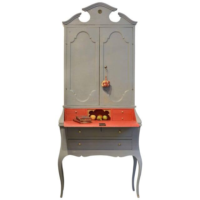 20th Century Italian Provincial Painted Secretary Desk - Image 1 of 11