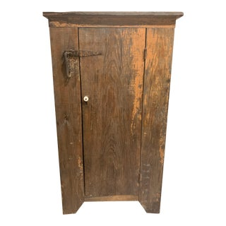1900s French Tall Pine Cabinet For Sale