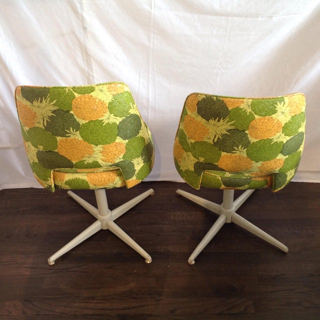 Mid-Century Modern Swivel Chairs- A Pair - Image 4 of 5