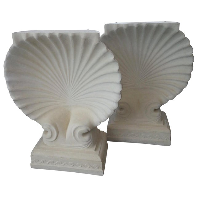 Scallop Clam Shell Console Bases - a Pair For Sale In West Palm - Image 6 of 6