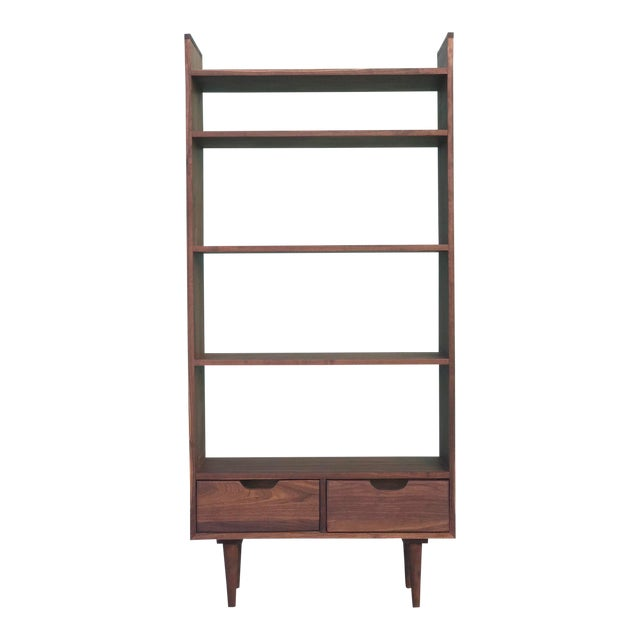 Custom Mid Century Style Bookcase For Sale