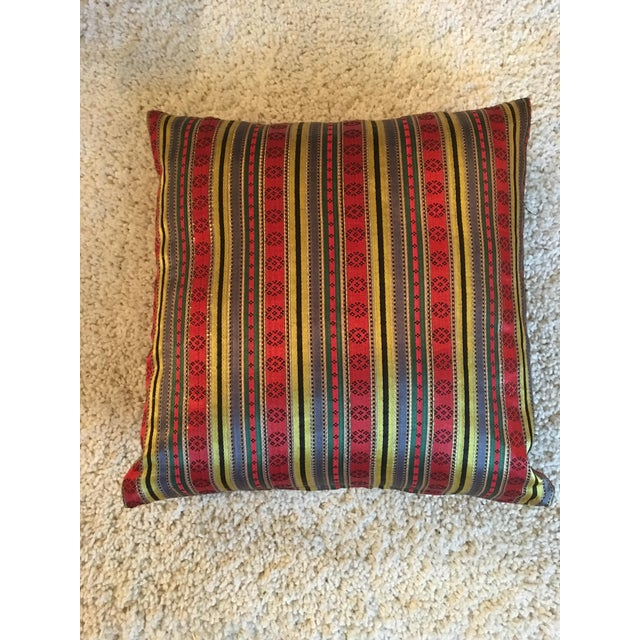 Jewel Tone Silk Pillow from Thailand - Image 3 of 4