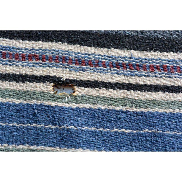 Vintage Indian Blanket, Wall Tapestry Decoration For Sale - Image 4 of 7