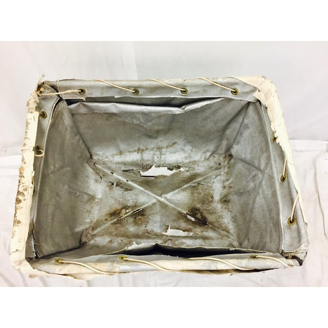 Vintage Laundry Cart Basket For Sale - Image 5 of 8