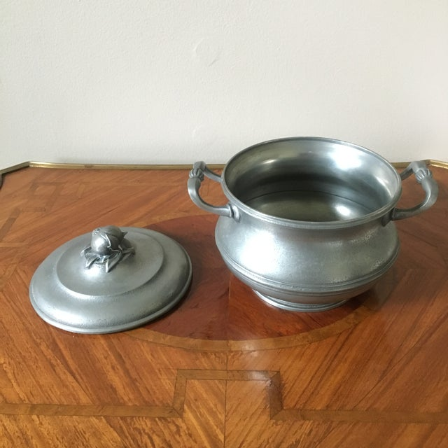 1900 - 1909 Vintage French Pewter Tureen With Onion Finial For Sale - Image 5 of 9