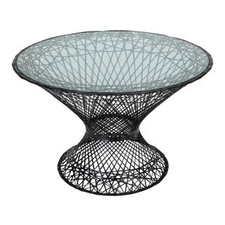 Spun Fiberglass Patio Dining Table by Woodard Furniture