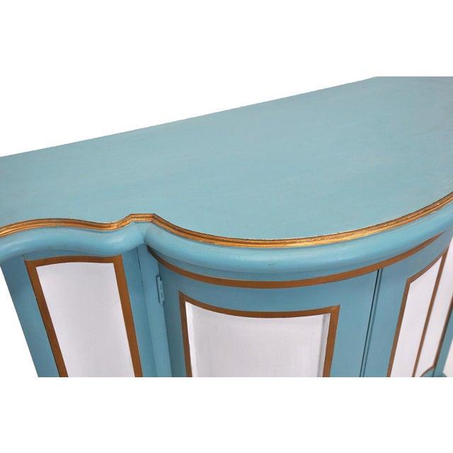 Baker-Style Demilune Cabinet For Sale In Cincinnati - Image 6 of 8