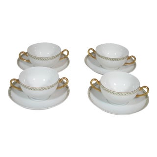 Bullion Cups & Saucers - Set of 4