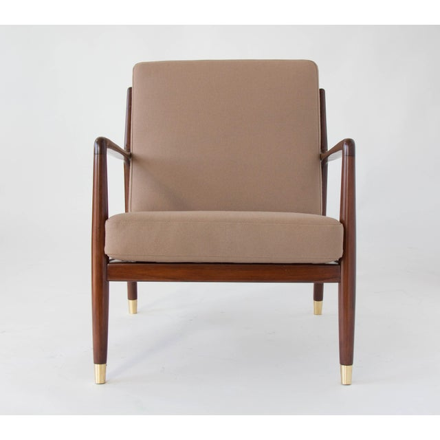 DUX Folke Ohlsson for DUX Brass-Capped Leg Lounge Chairs - a Pair For Sale - Image 4 of 9