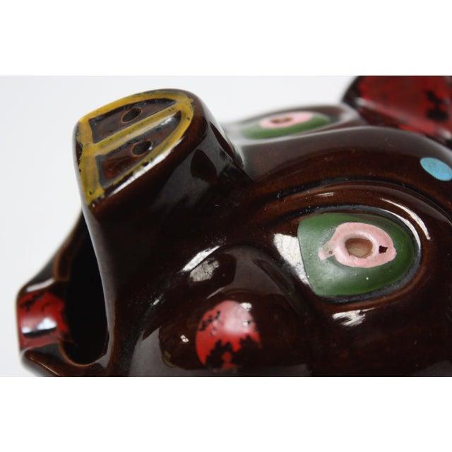 1950s Hand-Painted Folk Art Porcelain 'Pig' Ashtray For Sale - Image 5 of 13