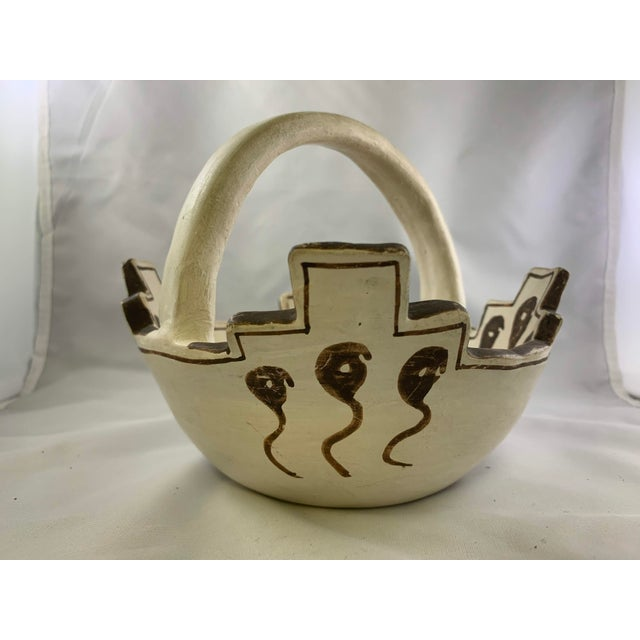 Jennie Laate Southwestern Prayer Bowl With Handle For Sale - Image 4 of 13
