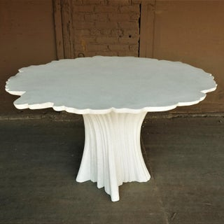 Cast Resin 'Perennial Cypress' Dining Table, White Stone by Zachary A. Design Preview