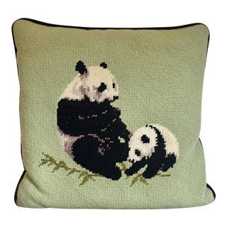 Needlepoint Panda Pillow
