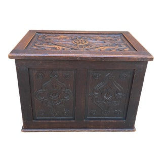 Antique English Blanket Box Chest For Sale