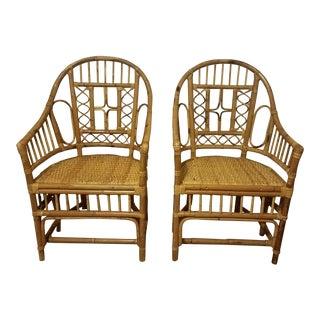 Vintage Brighton Bamboo / Rattan Chairs - a Pair
