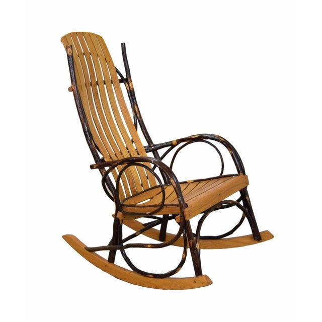 Mid 20th Century 20th Century Rustic a.c. Latshaw Bentwood Hickory Twig Rocker Chair For Sale - Image 5 of 5