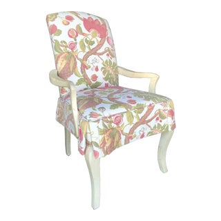 Designmaster Coastal Cottage Skirted Chair For Sale