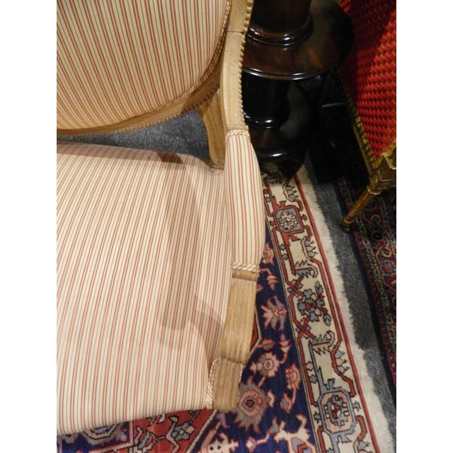 Early 20th Century Louis XVI Style Limed Wood Settee or Loveseat, Late 19th or Early 20th Century For Sale - Image 5 of 11