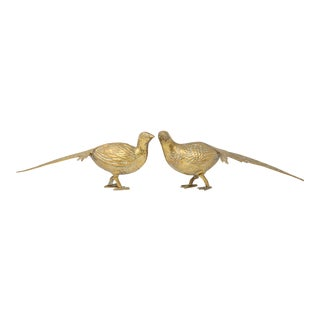 Vintage Brass Pheasants - a Pair