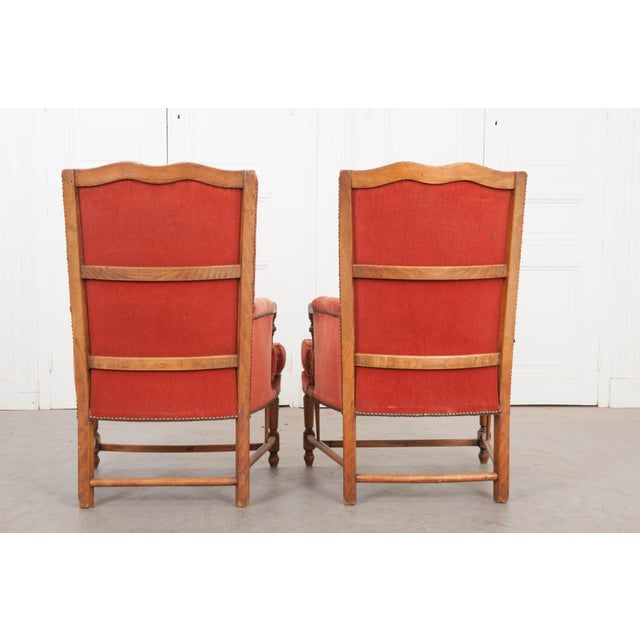 19th Century French Provincial Walnut Fauteuils - a Pair For Sale - Image 4 of 10